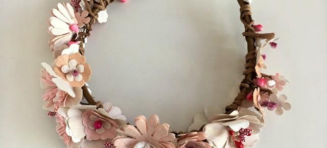 Floral paper tiara