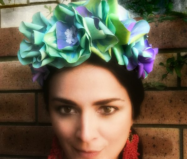 Dreaming Frida – how to make a paper flower crown