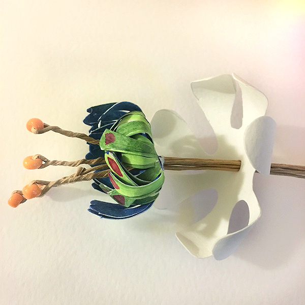 paper flowers - stamens
