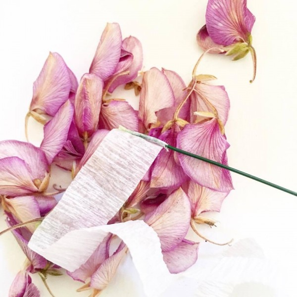 "recycling petals - create a ""comfortable bed"" for the flower"