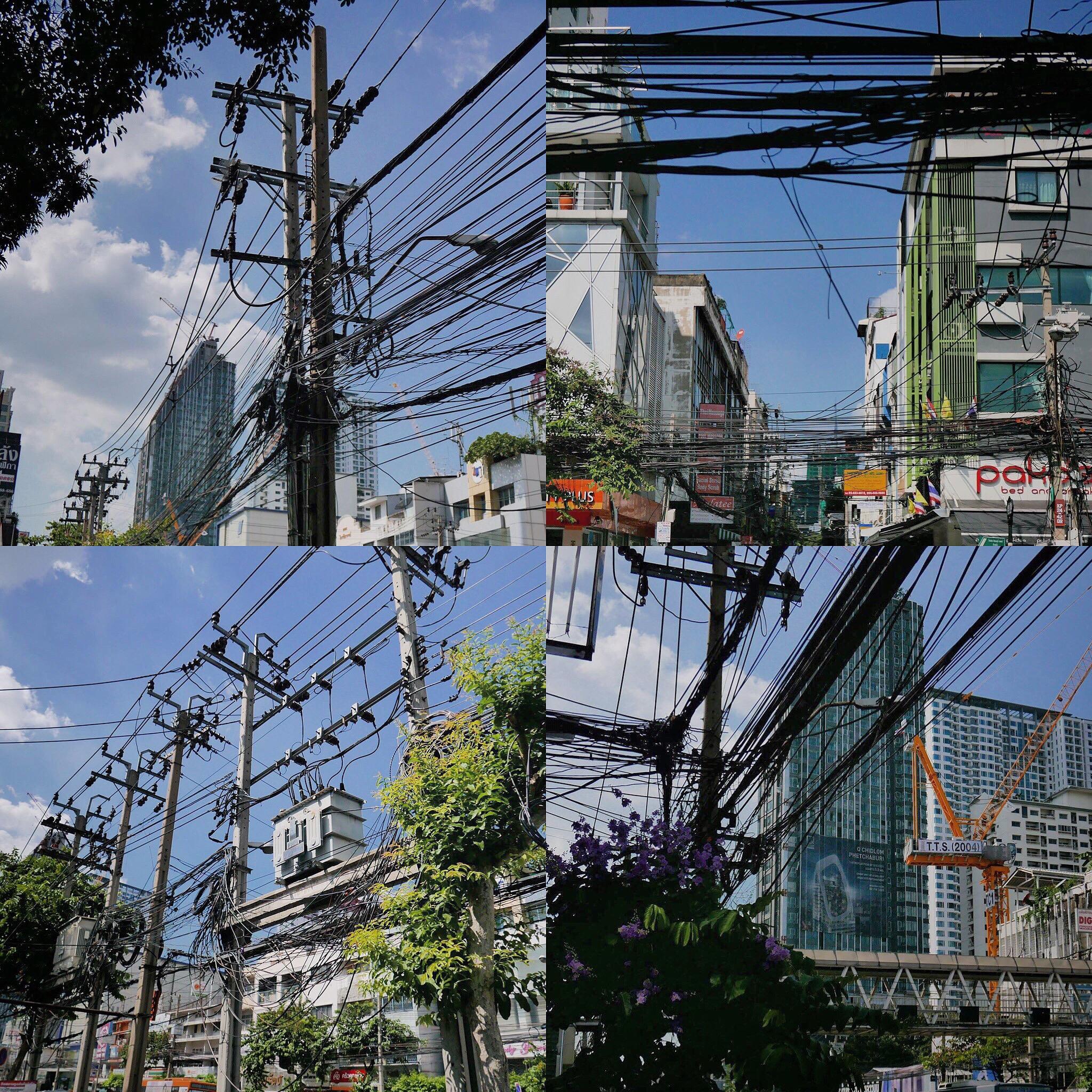 Bangkok electricity cables