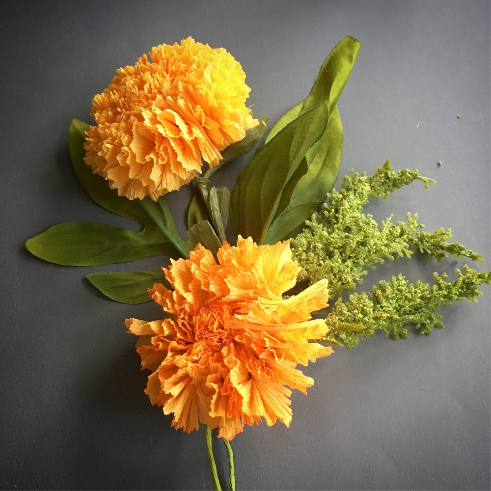 How to make Marigold paper flower