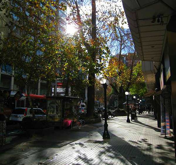 street in Santiago de Chile - inspiration for my autumn candle holder