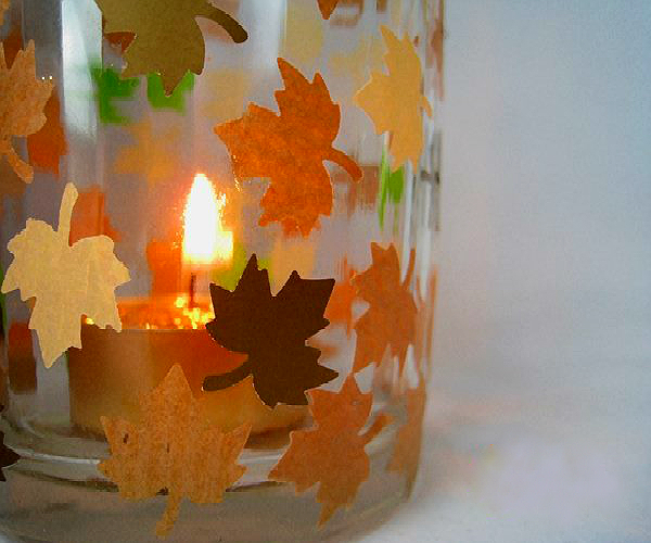 autumn candle holder