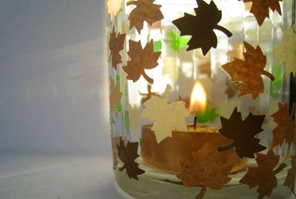 autumn candle holder