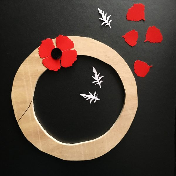 ANZAC poppy flower wreath