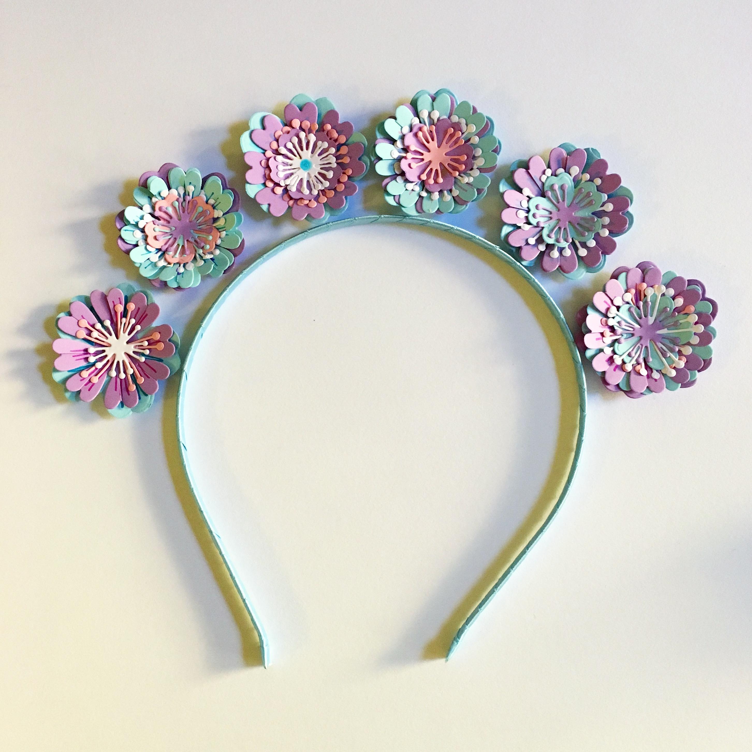 Easy to make girl's flower crown