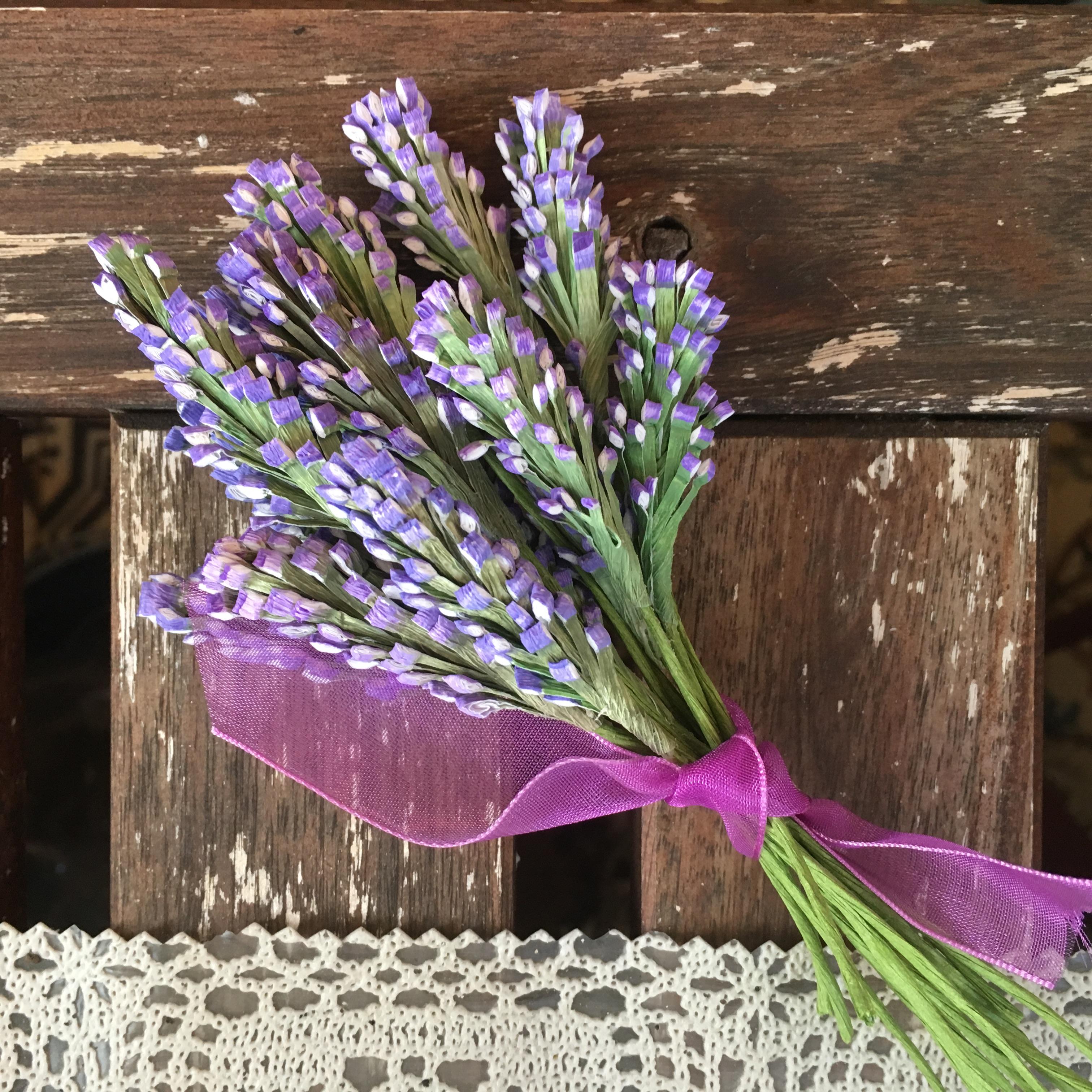 grow paper lavender field