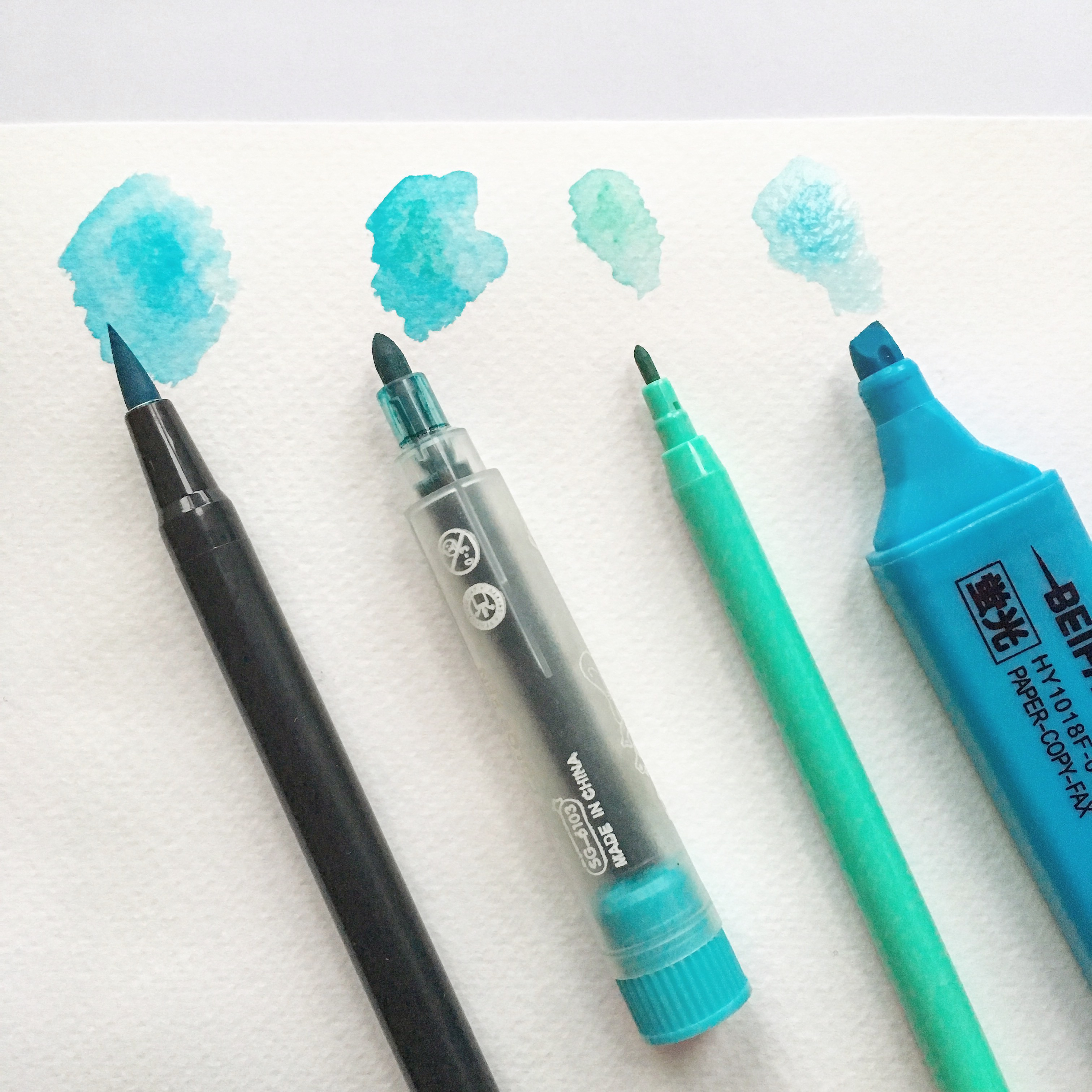 how to save money from craft materials - markers watercolour