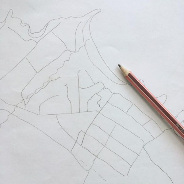 hand drawn map for your airbnb guests