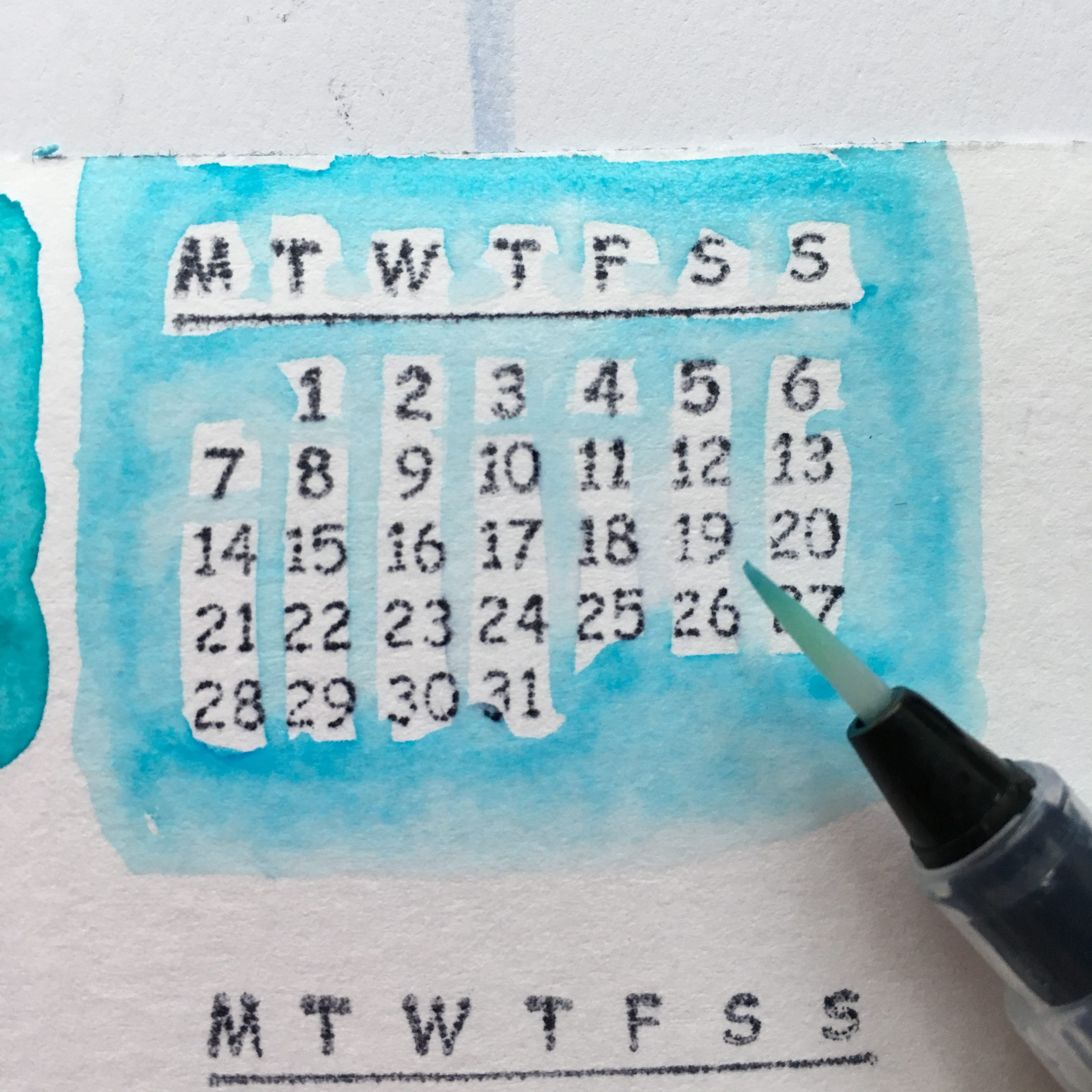 New Year Resolution calendar and personal message