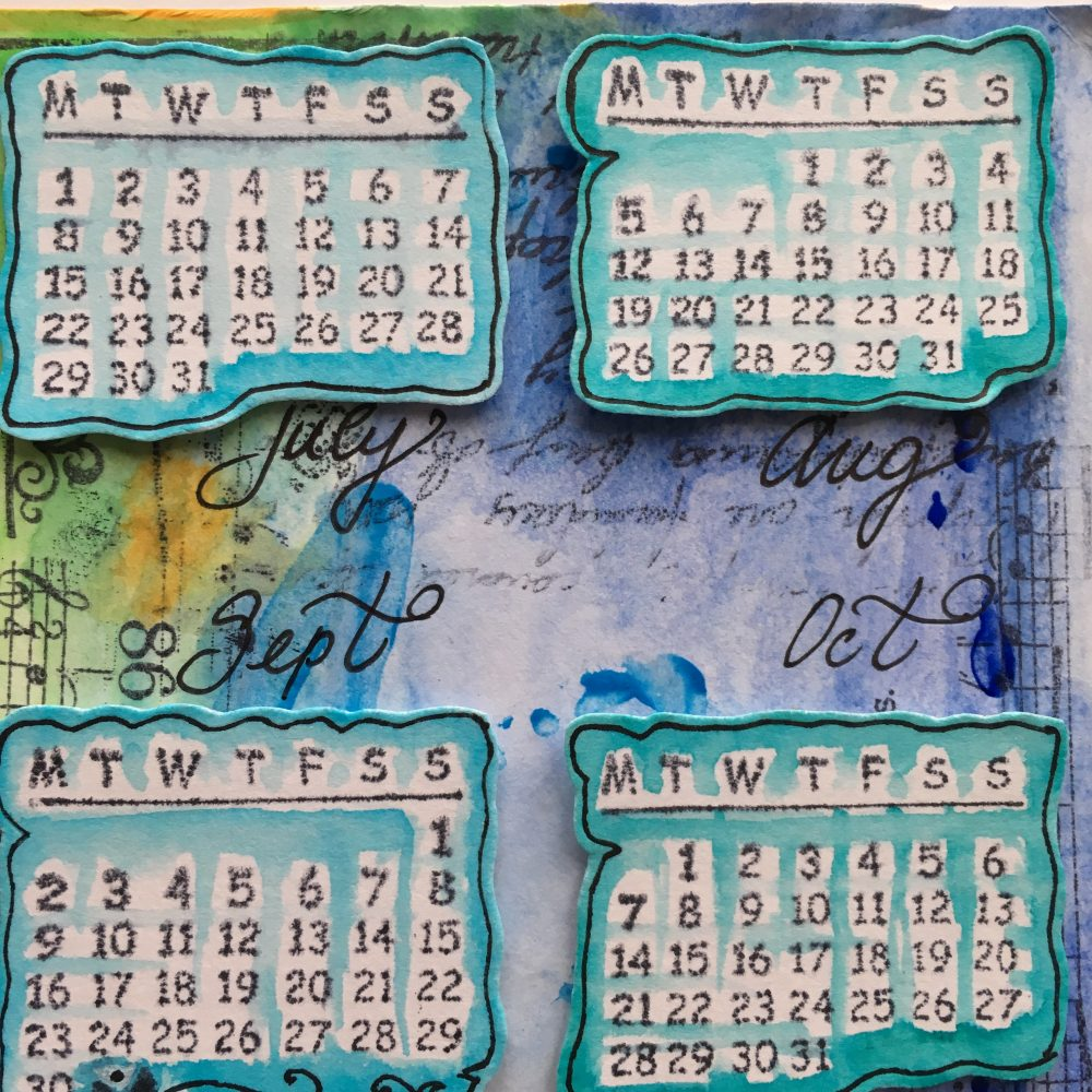 New Year Resolution calendar and message