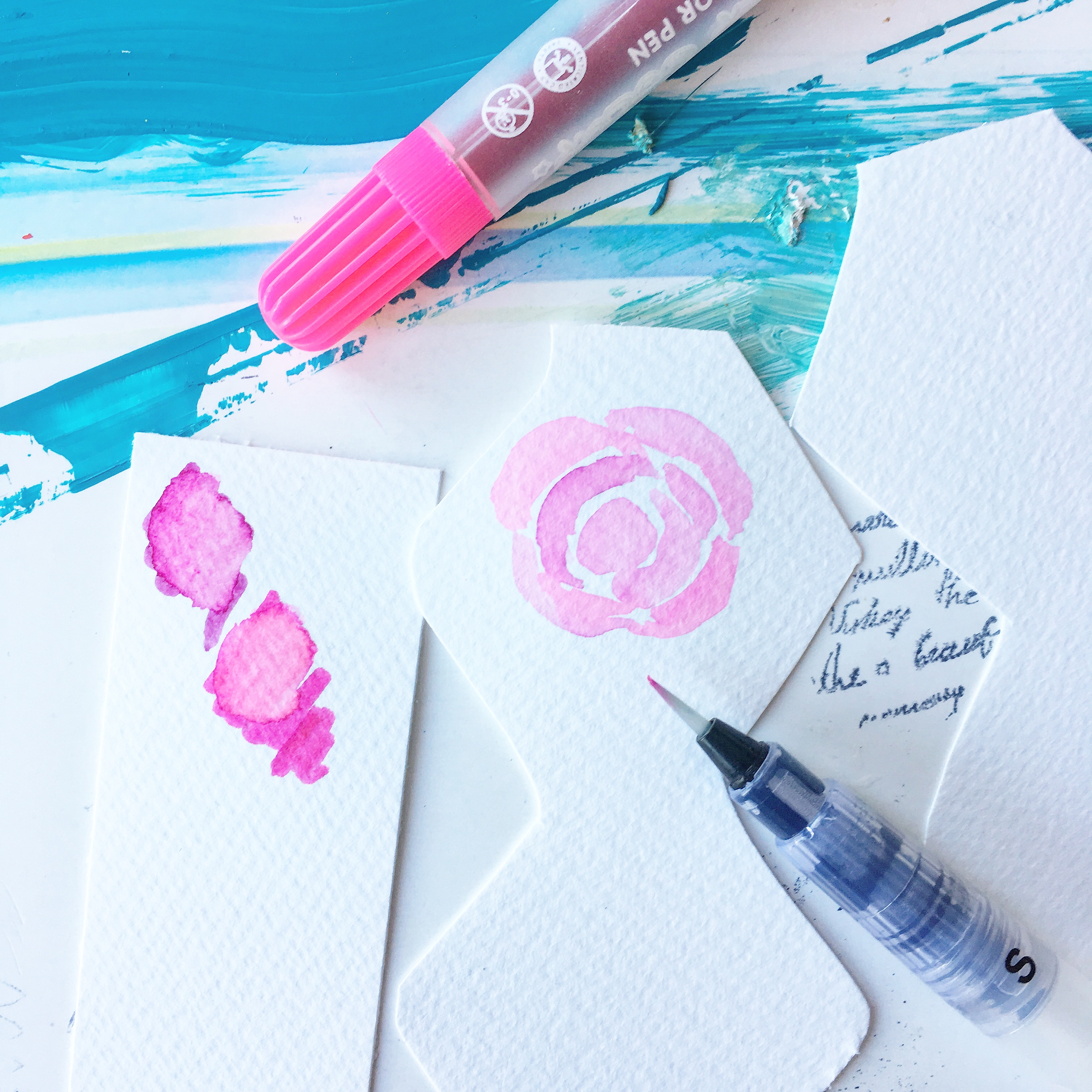 scrapbooking watercolour project
