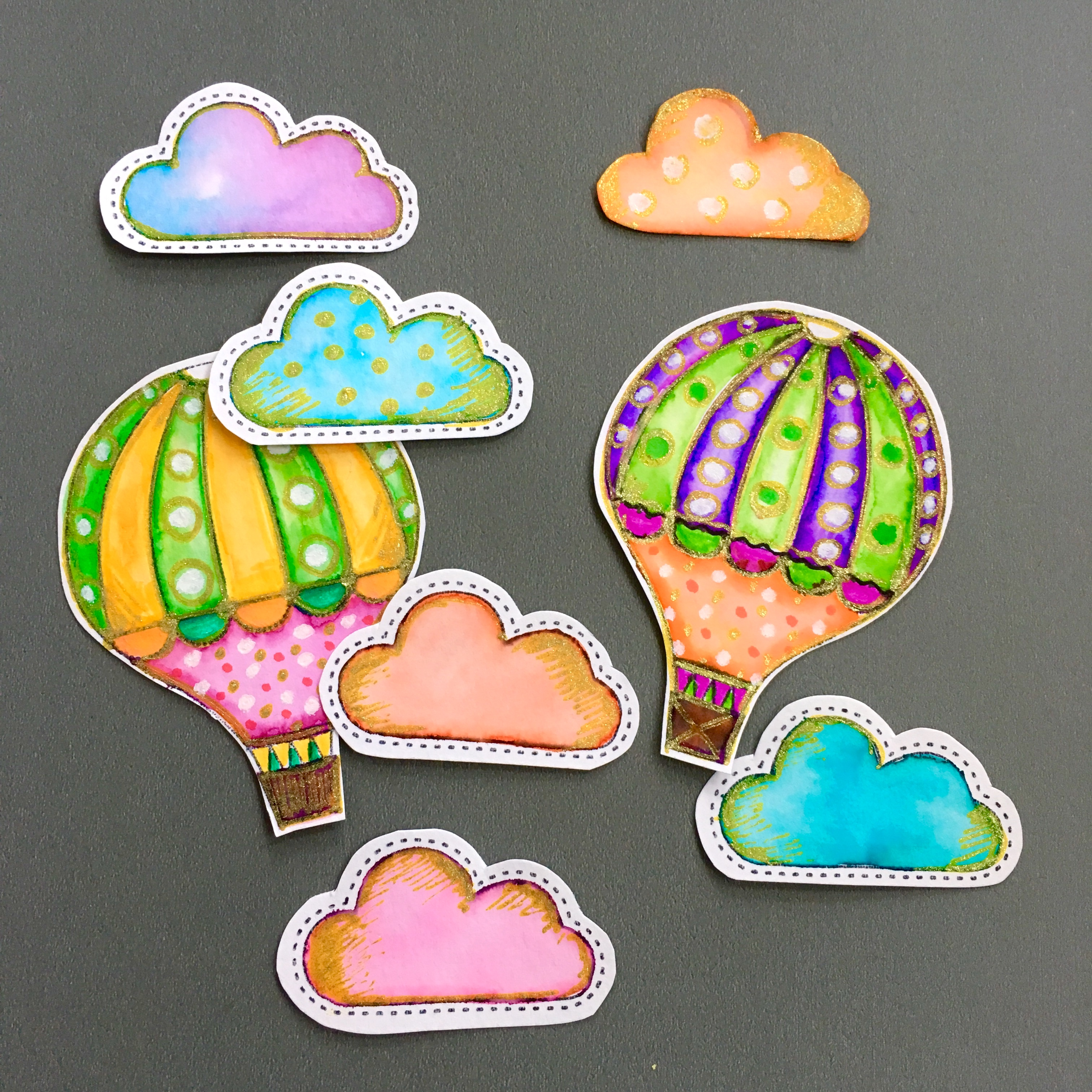 hand drawn paper muffin toppers