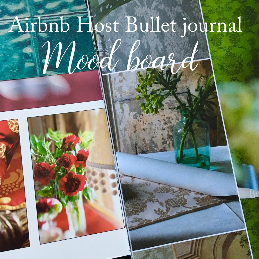 Airbnb host bullet journal - Mood board - pictures from magazines and catalogues