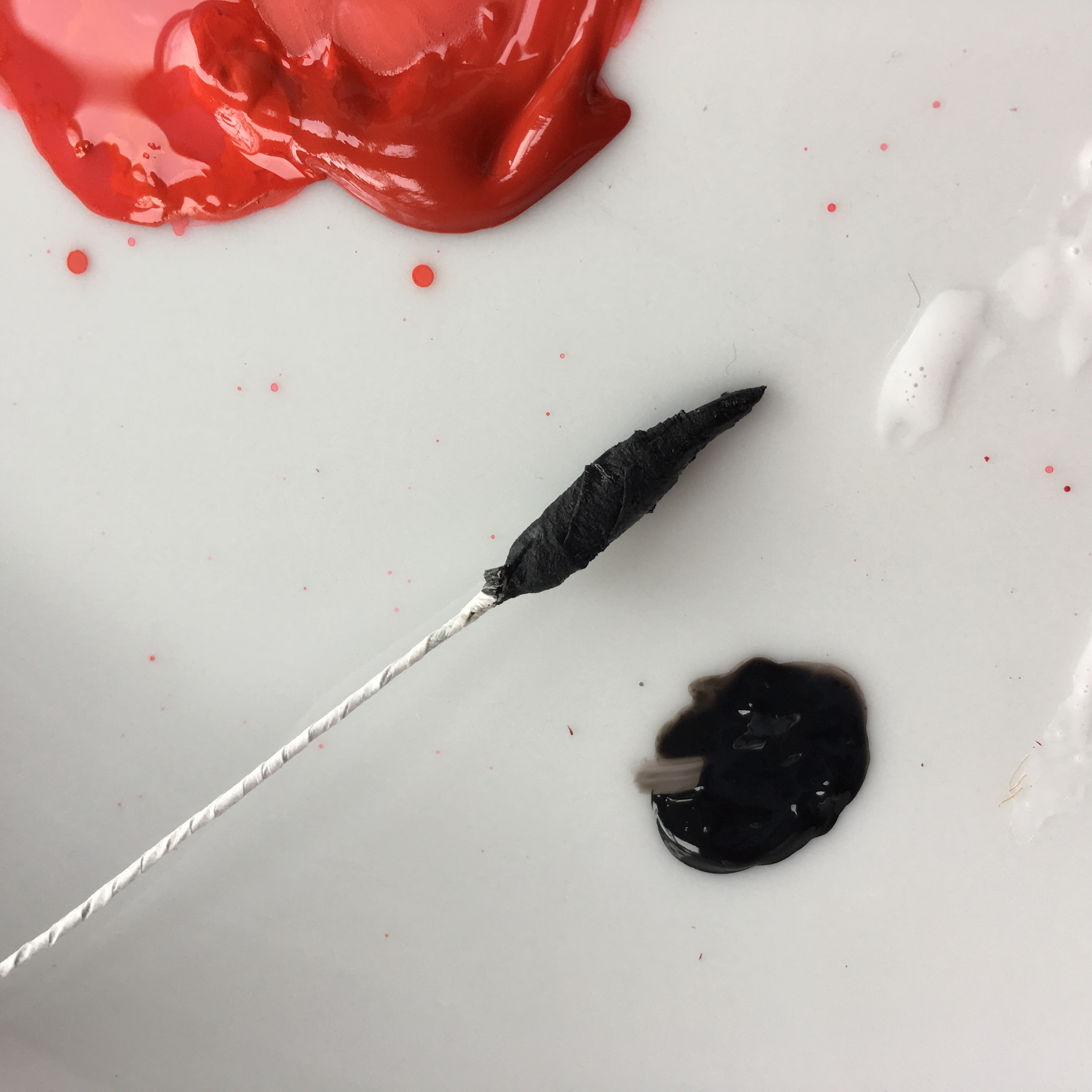 painting the stamens in black