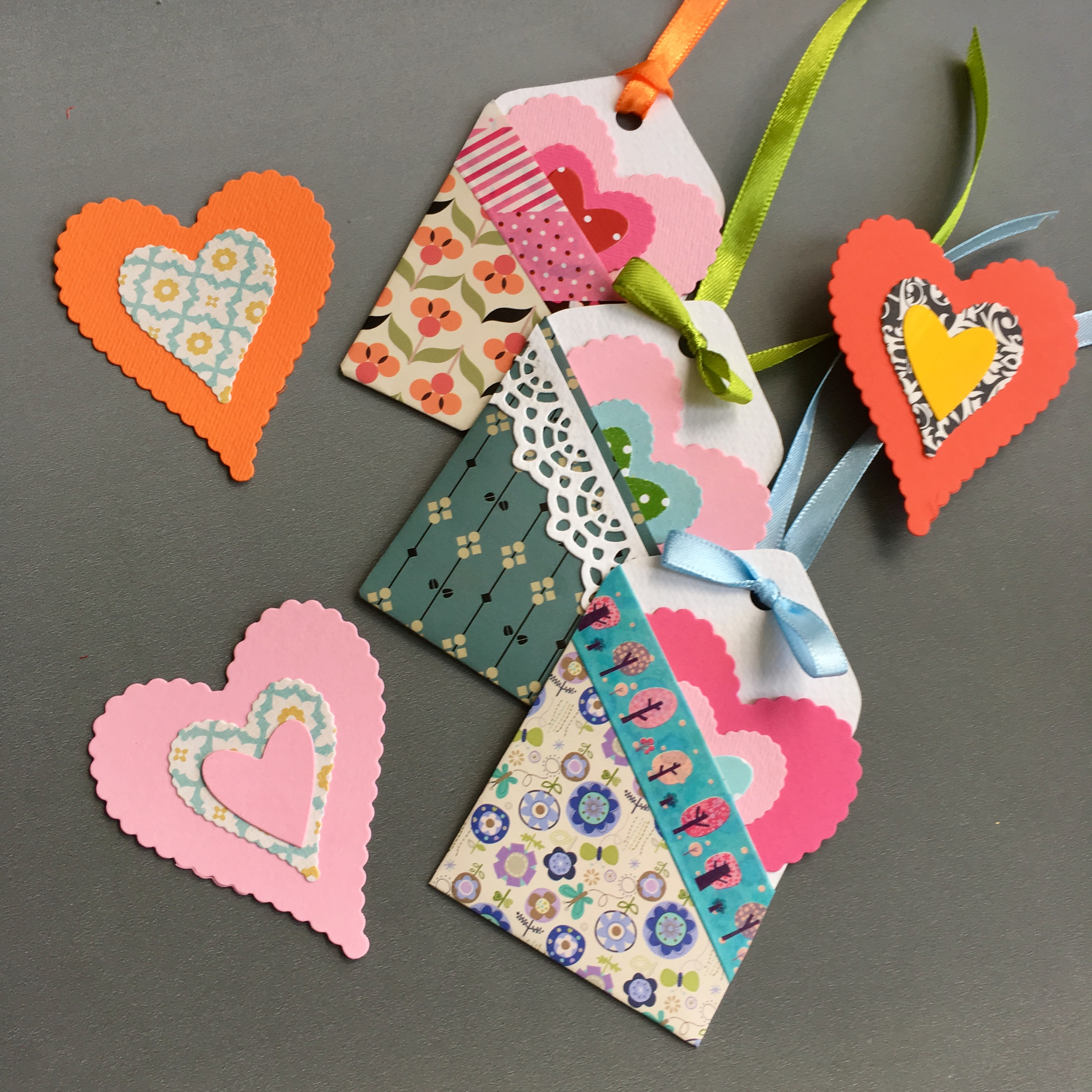 pocketed gift tags and hearts