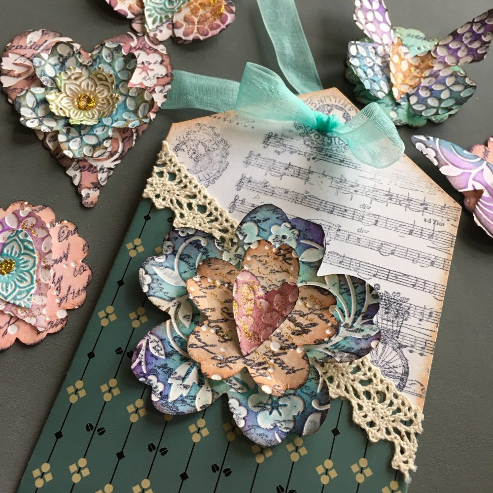 Easy scrapbook paper embellishments