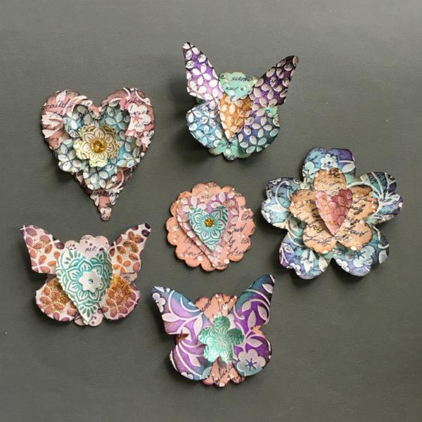 easy scrapbook paper embellishments