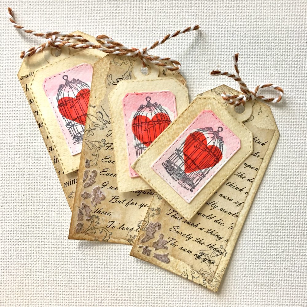Vintage Valentine love gift tags