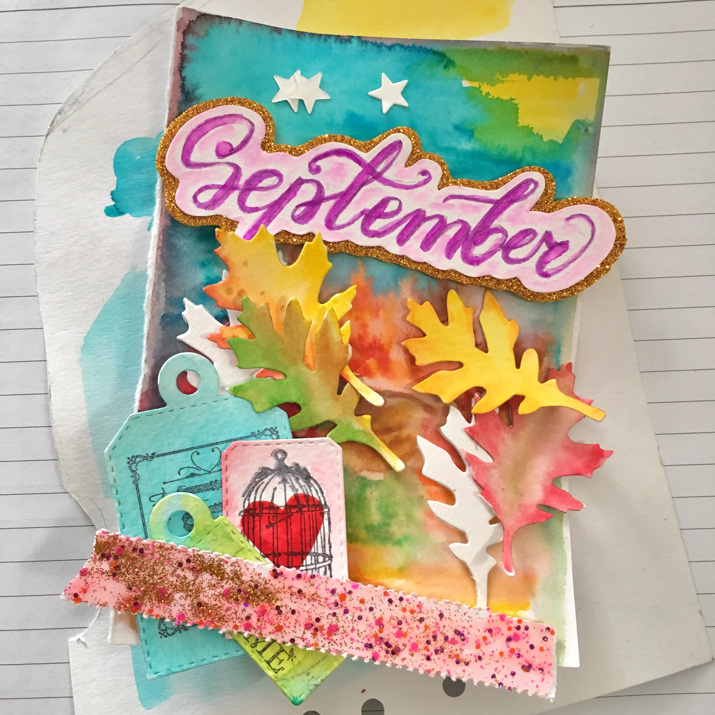 the full set of decoration for the September journal title page