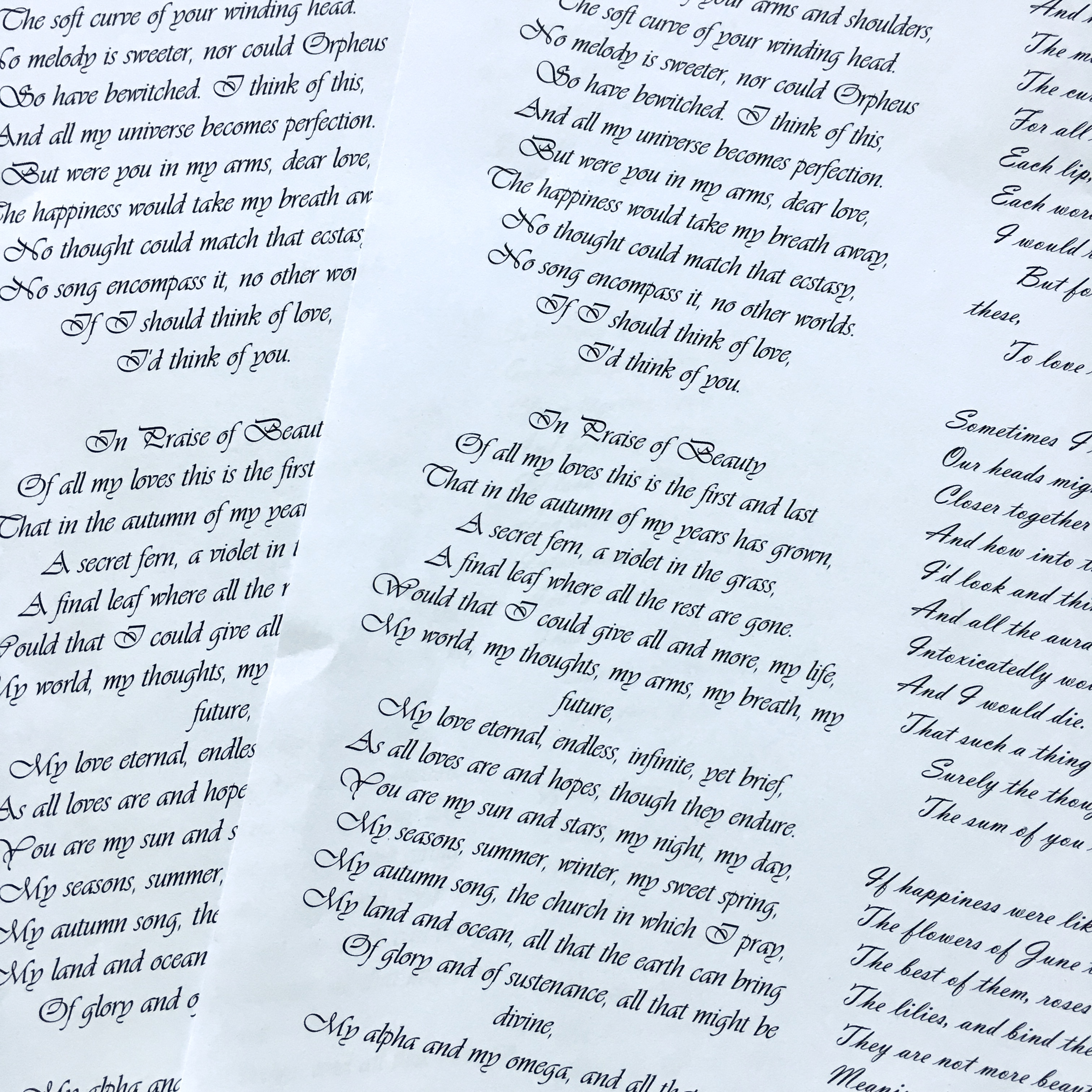 printed Shakespeare's sonnets