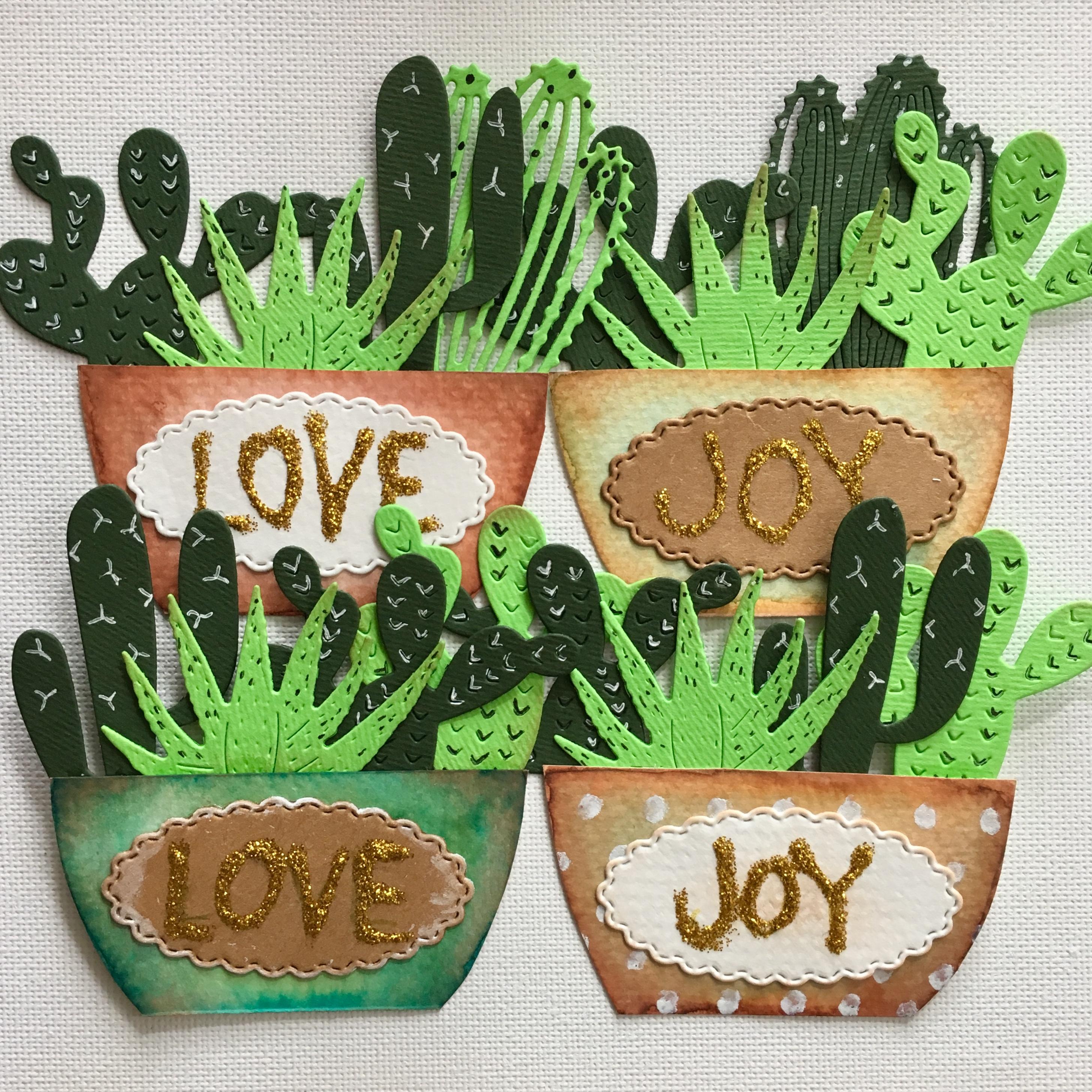 paper cactus embellishments