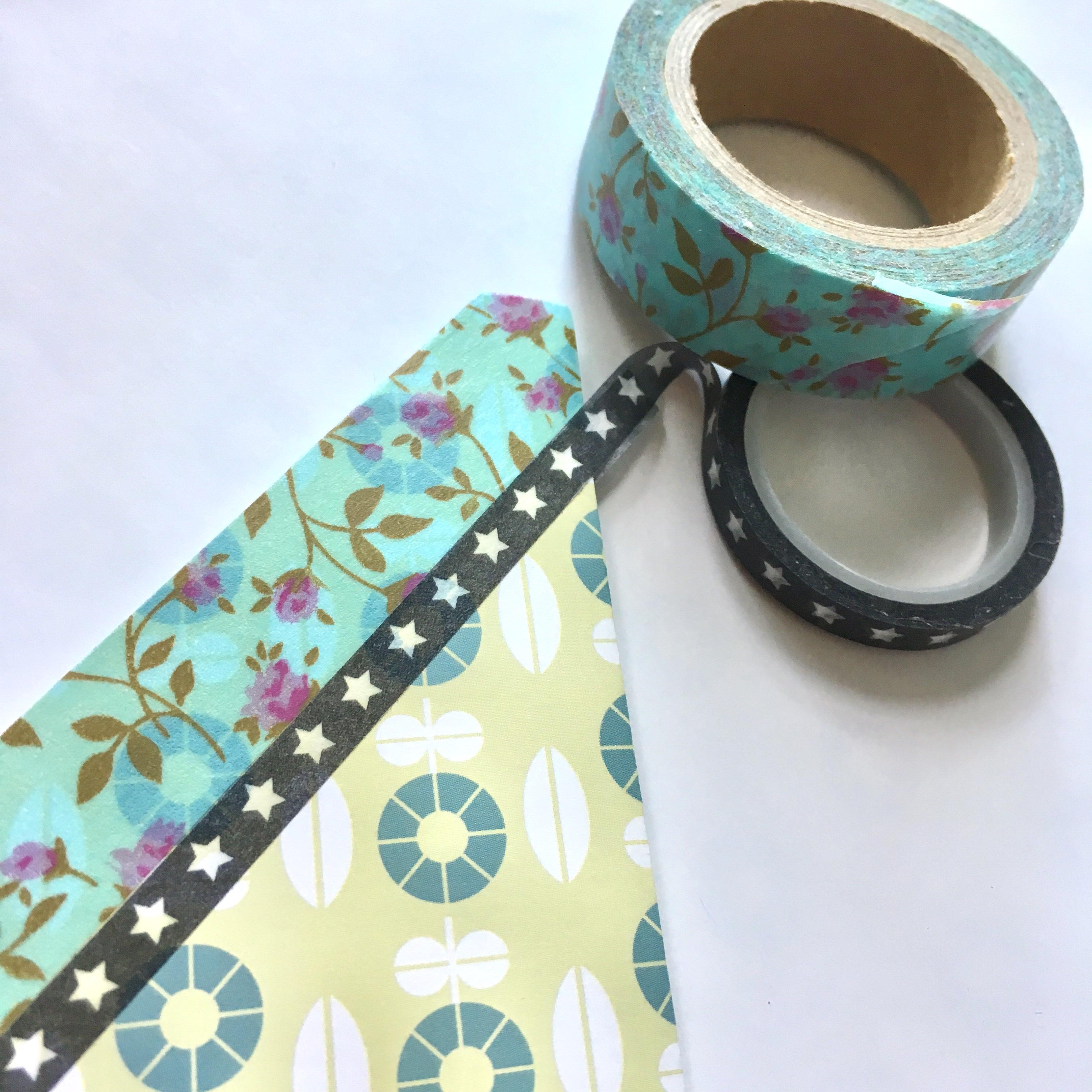 washi decoration of the pocket bookmark