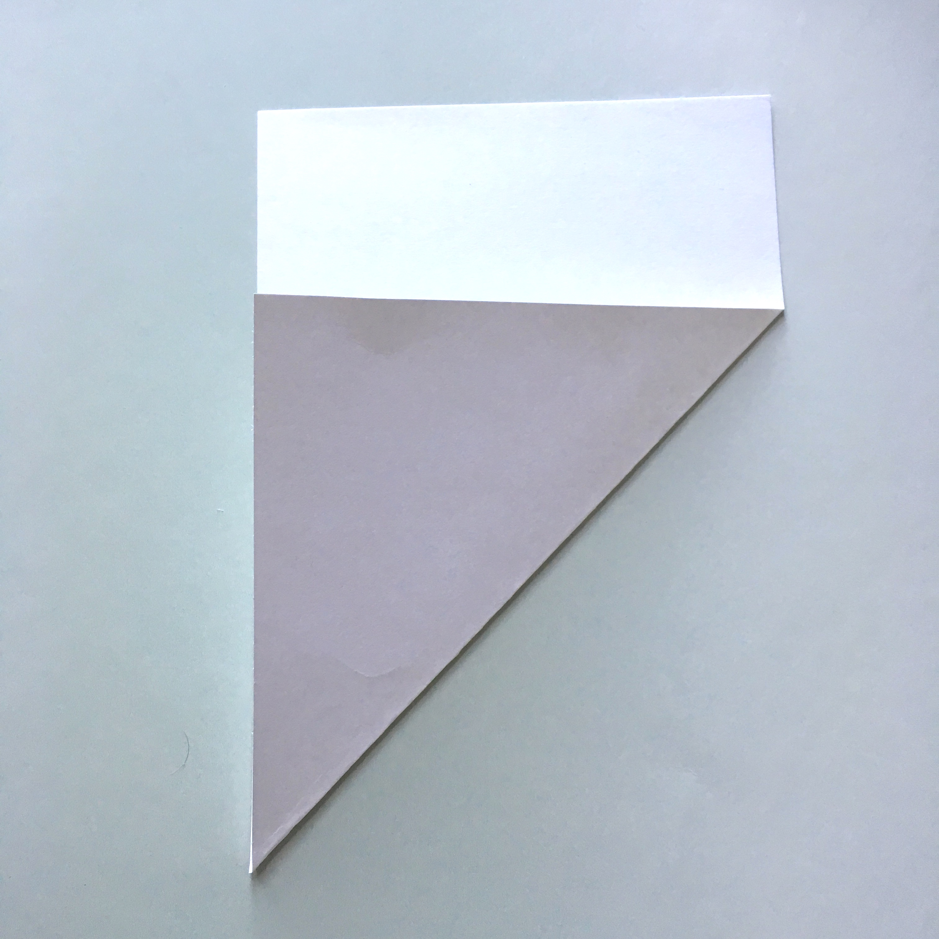 folded rectangle paper to make square