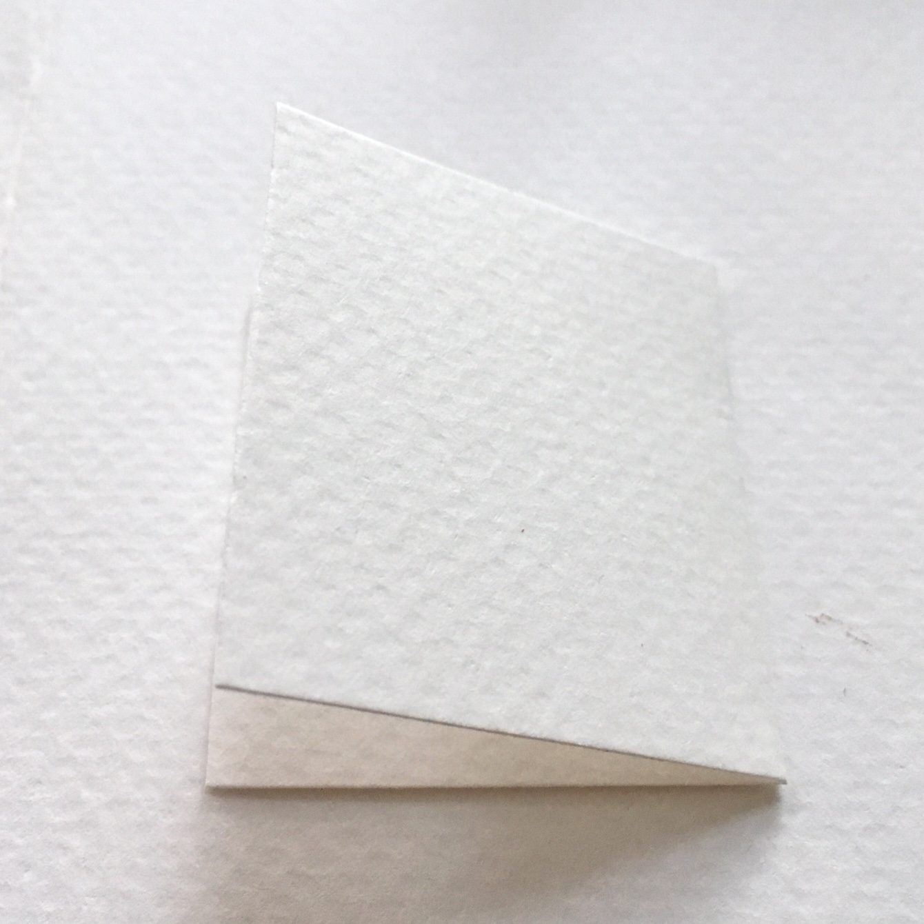 white rectangle from white watercolour paper