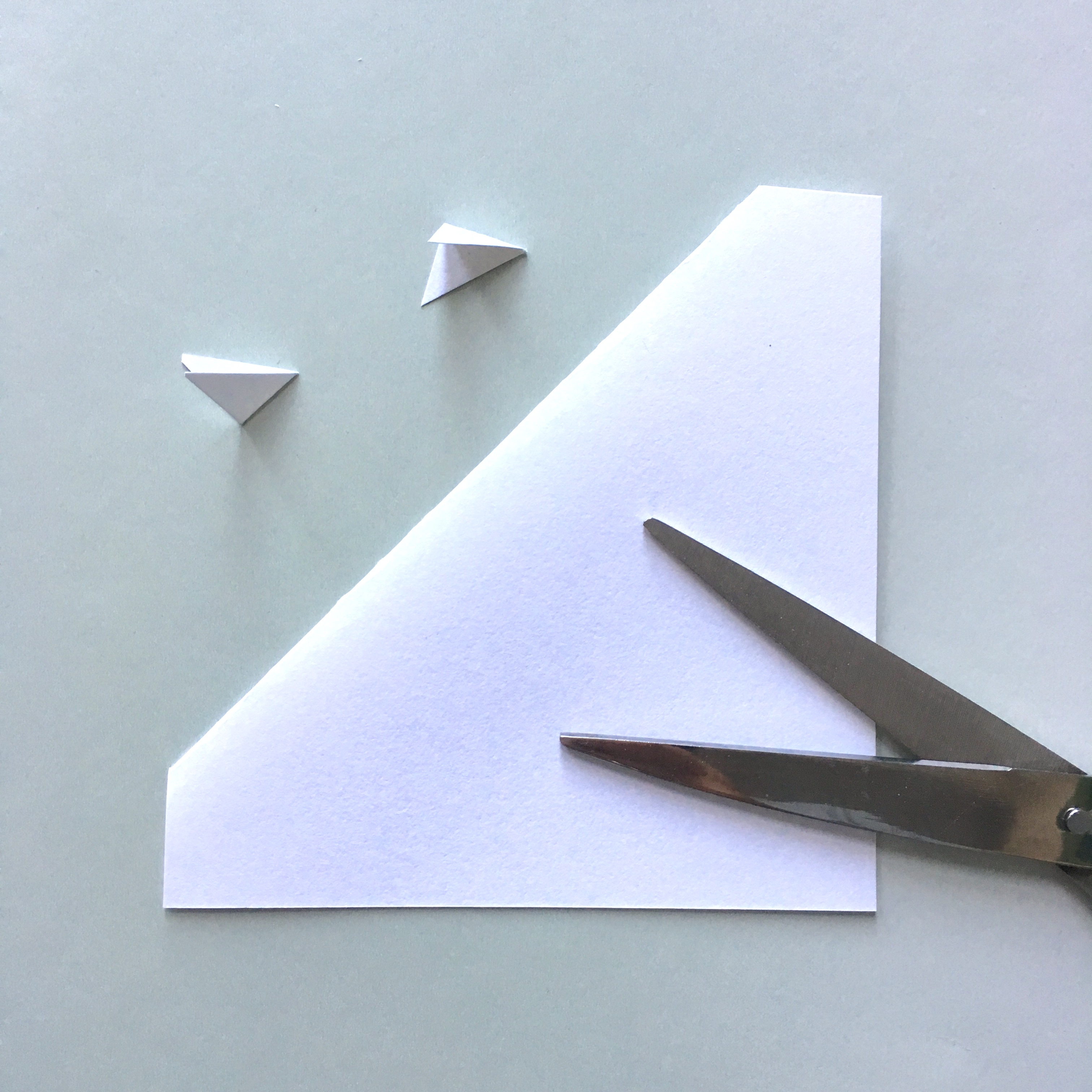 shaping the triangle pocket bookmark