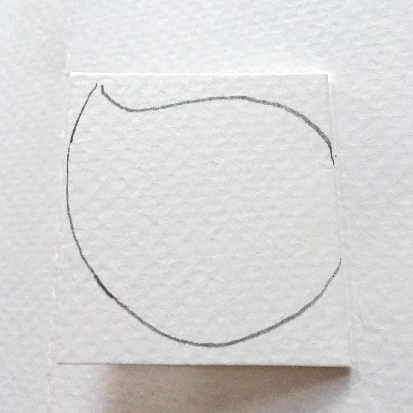 leaf shape drawn on the white paper rectangle