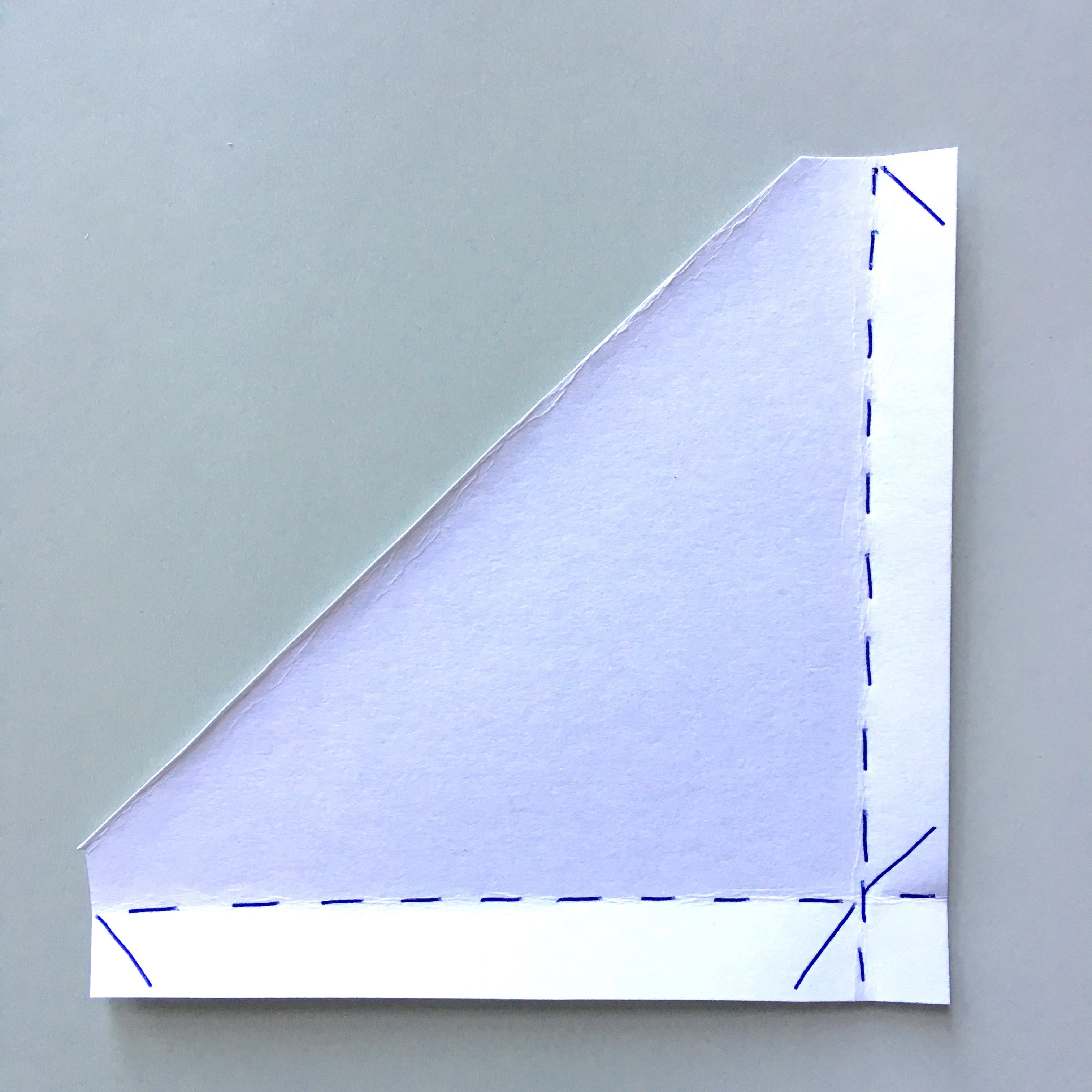 pocket bookmark - making the template