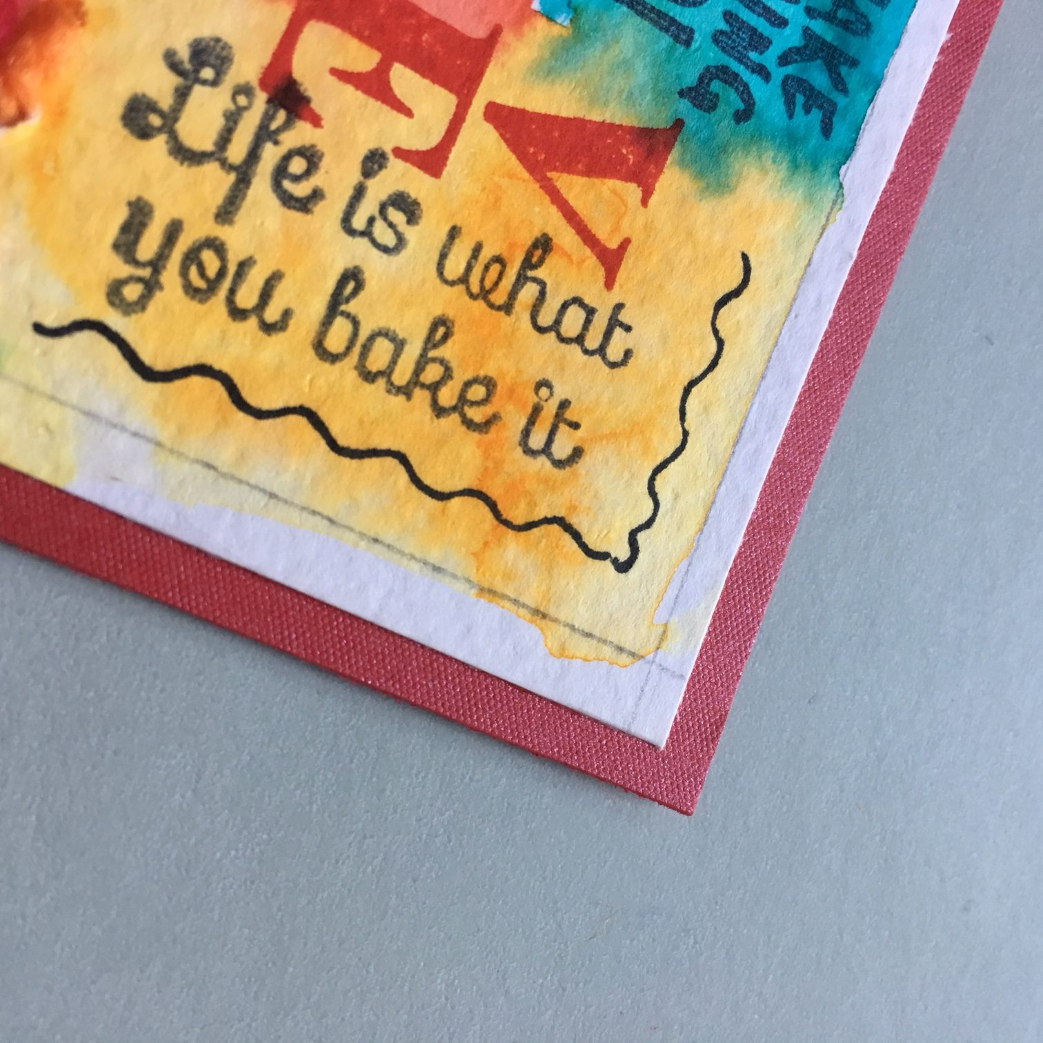 edges of the hippie greeting card