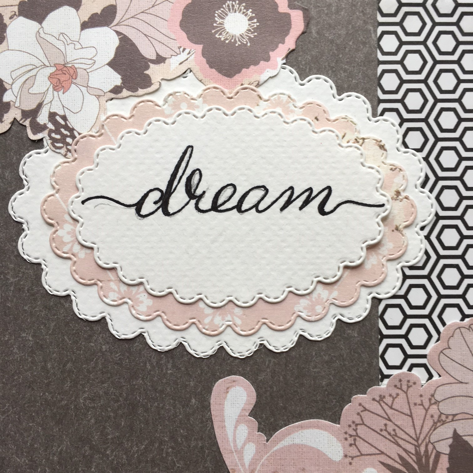 "notebook label with ""dream"" handwriting"