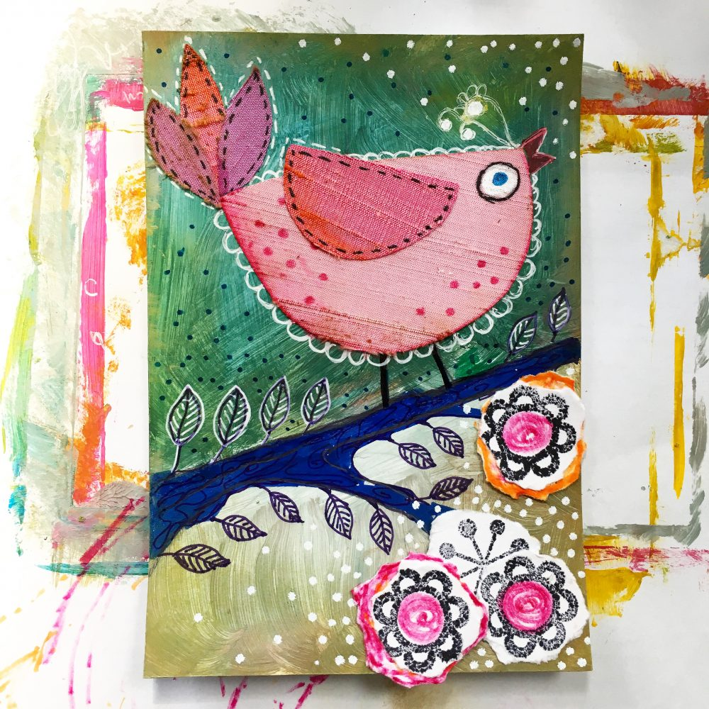 Bird scrapbook project