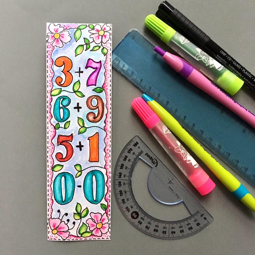 Handmade bookmarks for little ones