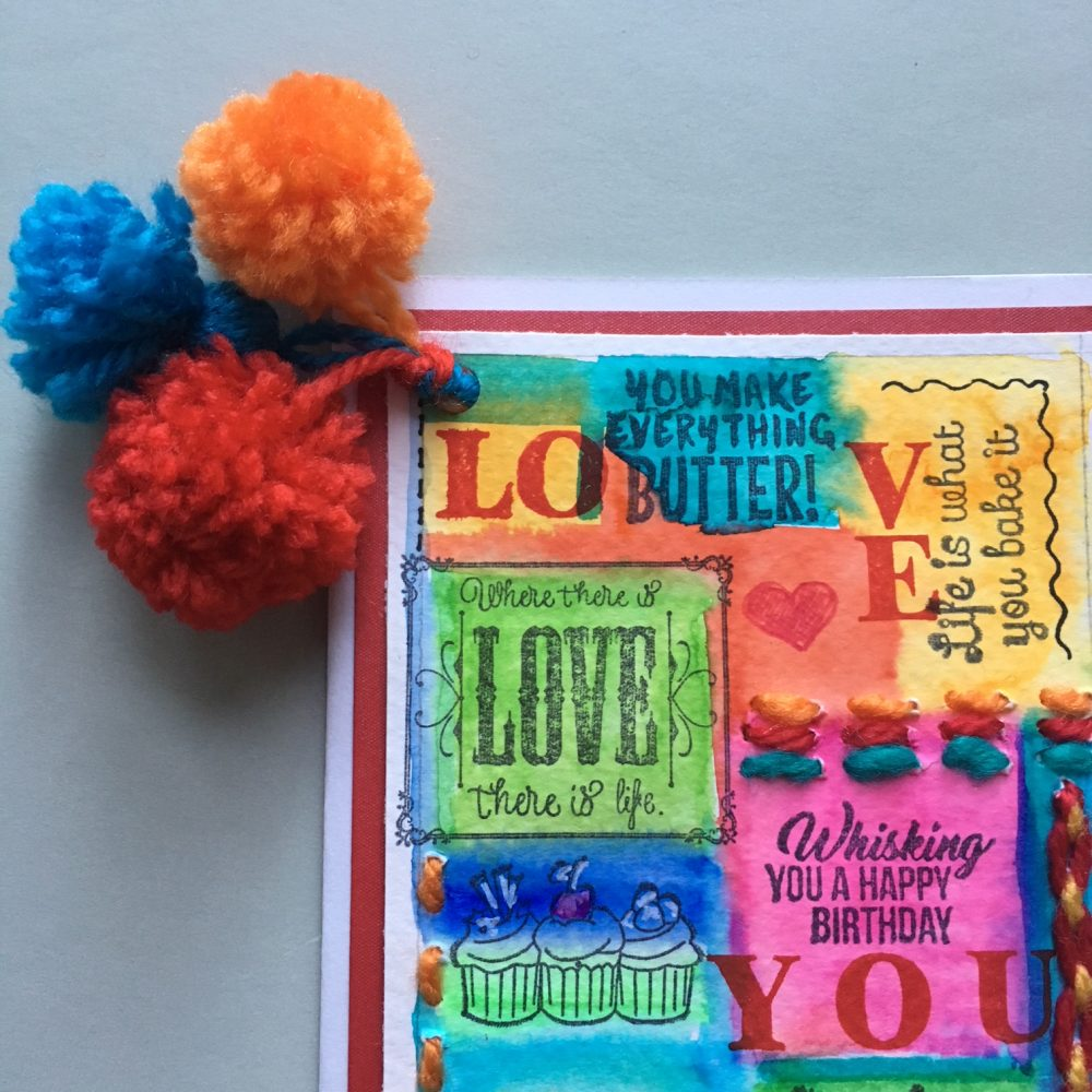 finished hippie style greeting card