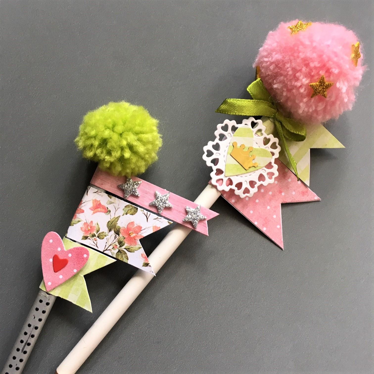 decorated pencils for school princesses