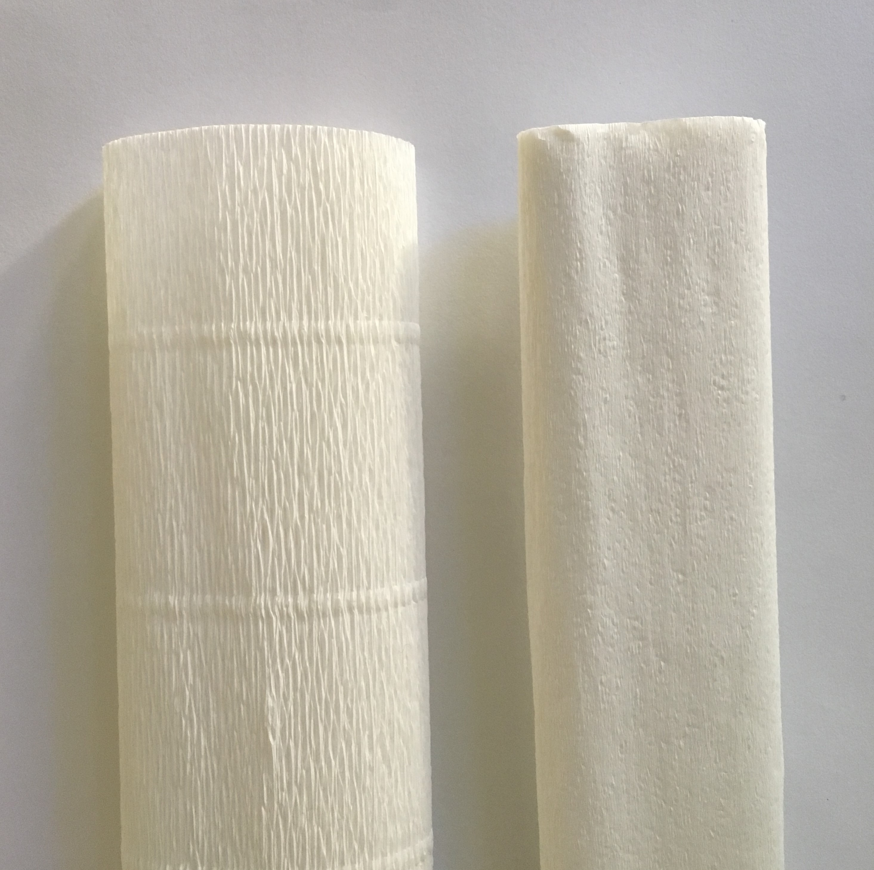 two different crepe paper types - thick and thin