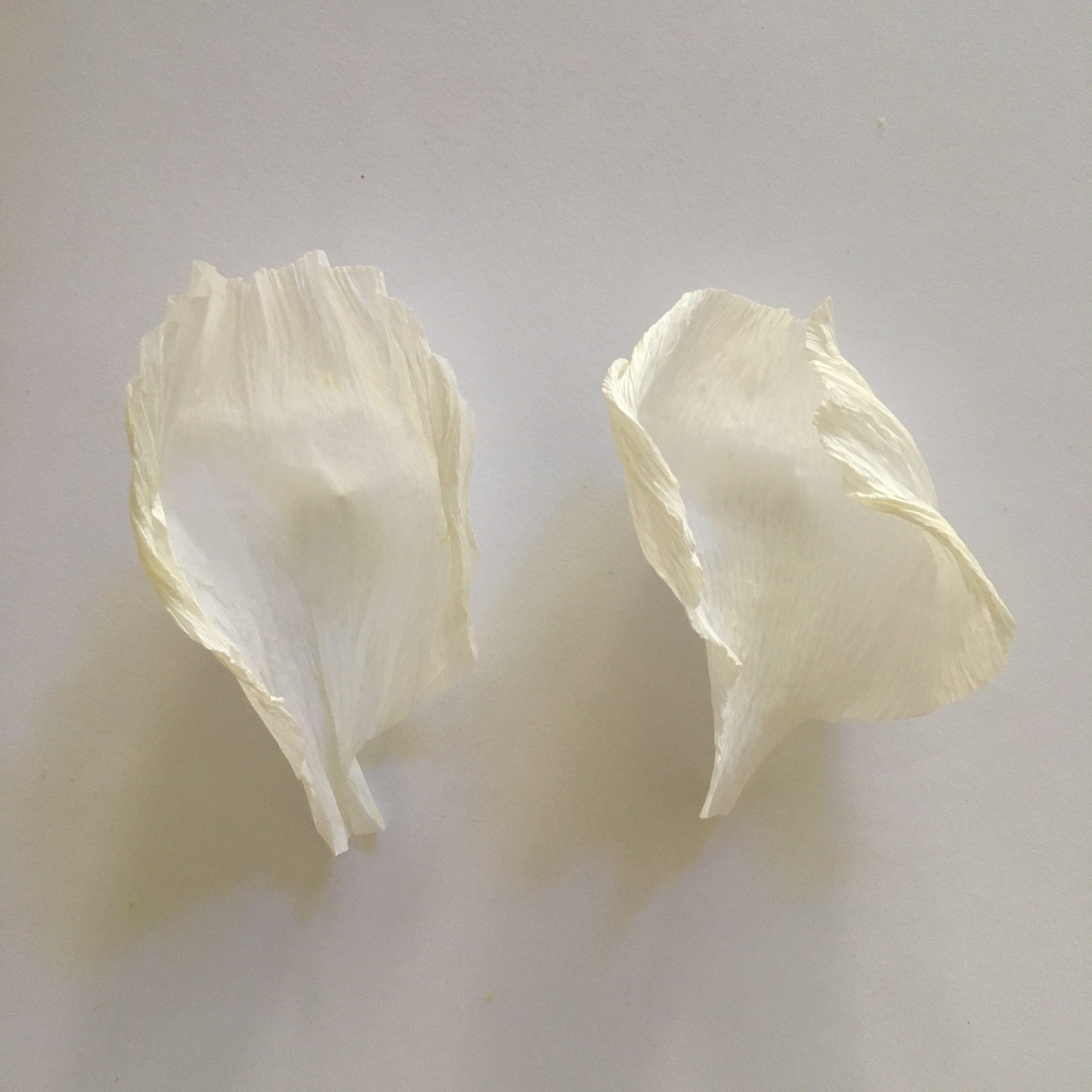 crepe paper petals