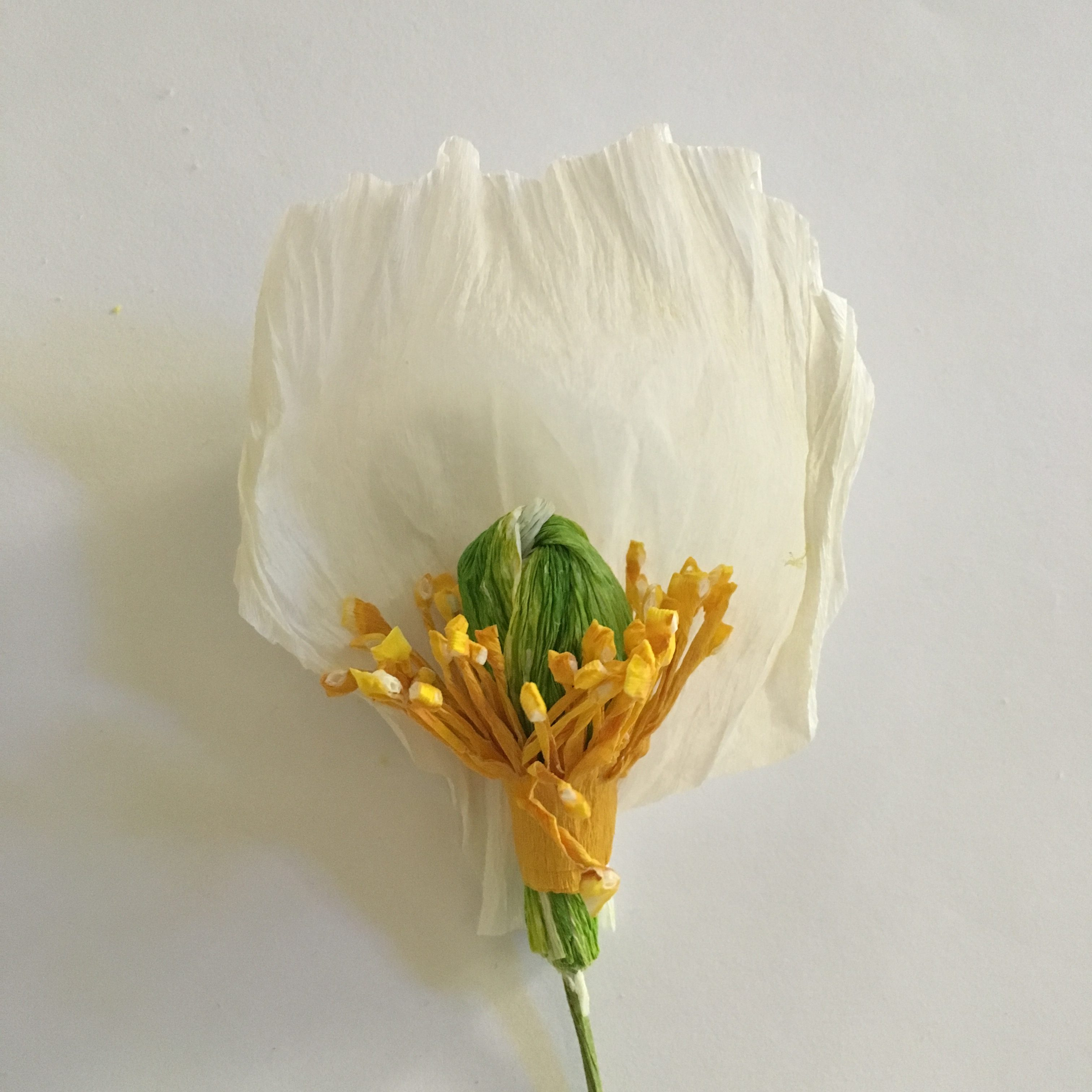 poppy flower - gluing the petals