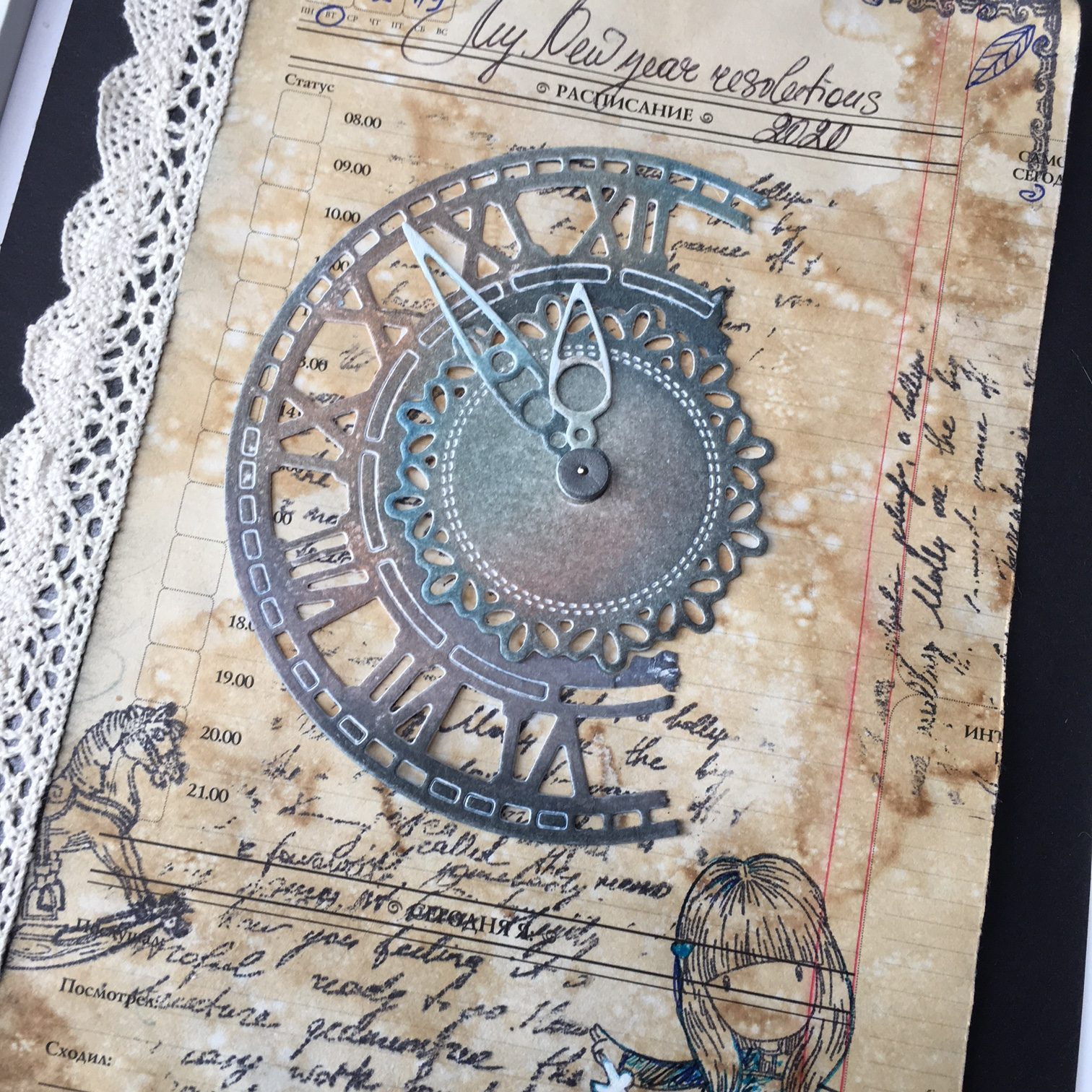 Scrapbook and lace project