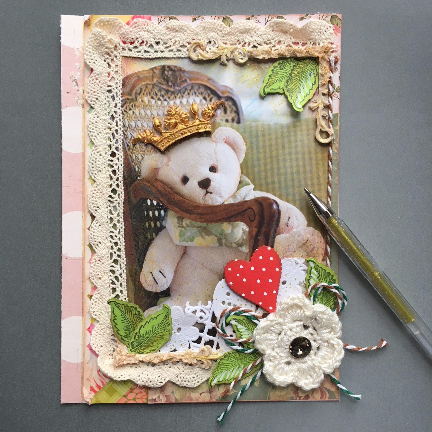 teddy bear scrapbook project