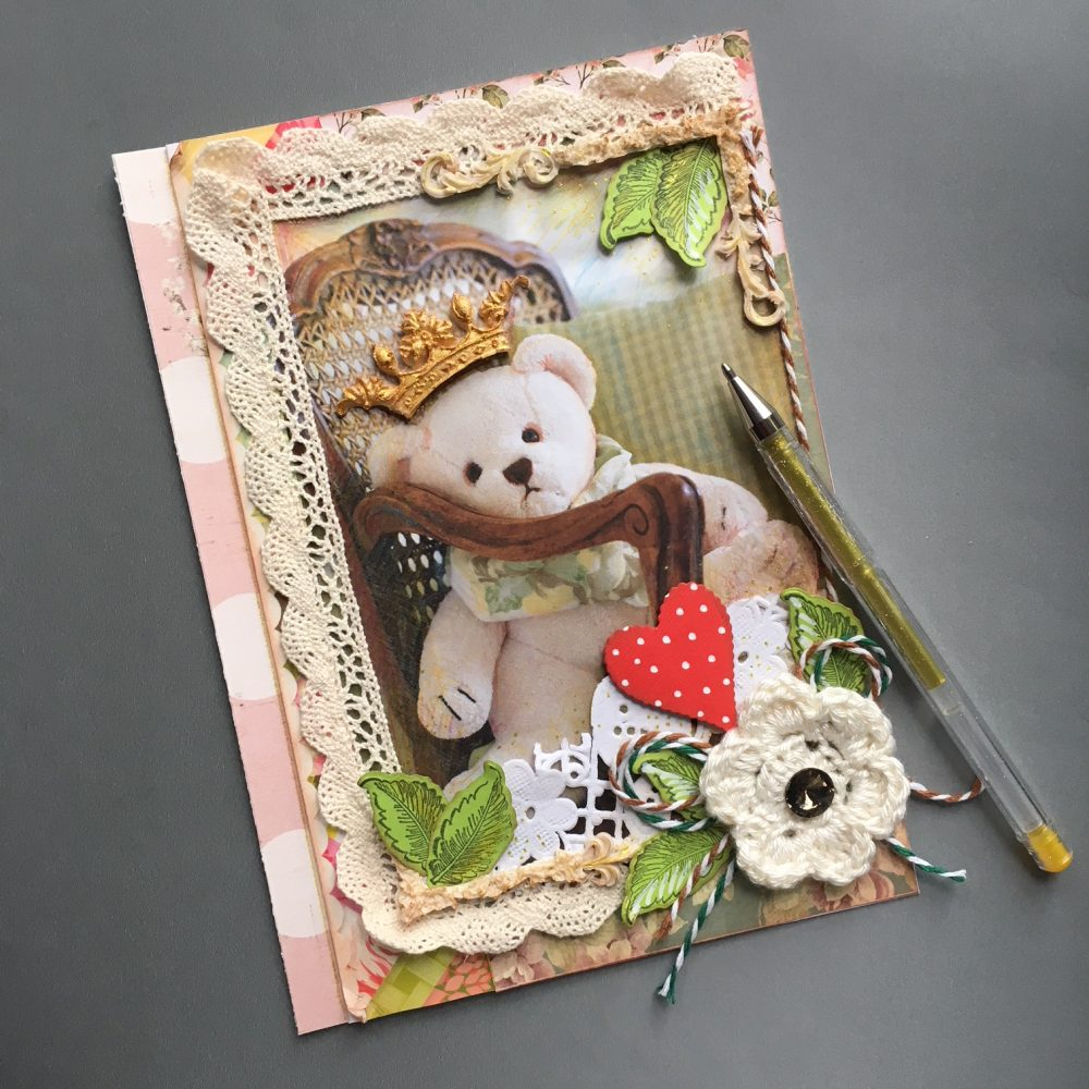 teddy bear scrapbook project
