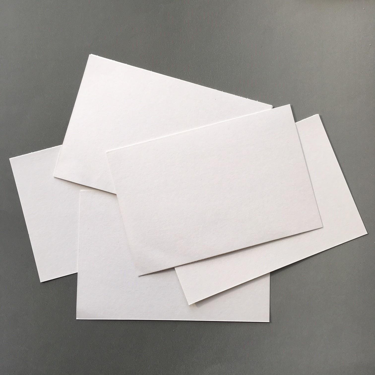 white soft cardboard for making the accordion-like shape