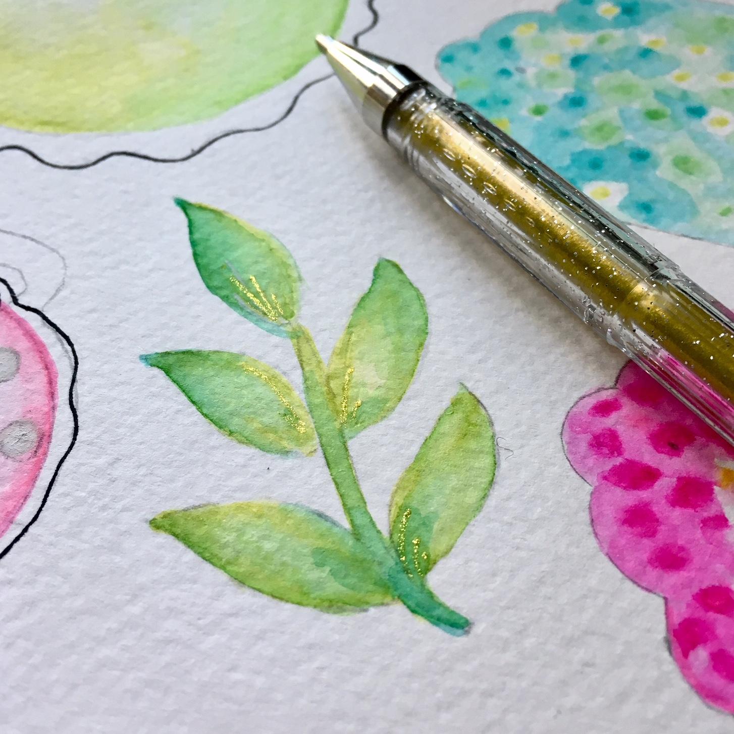 DIY scrapbook embellishments - finishing with glitter