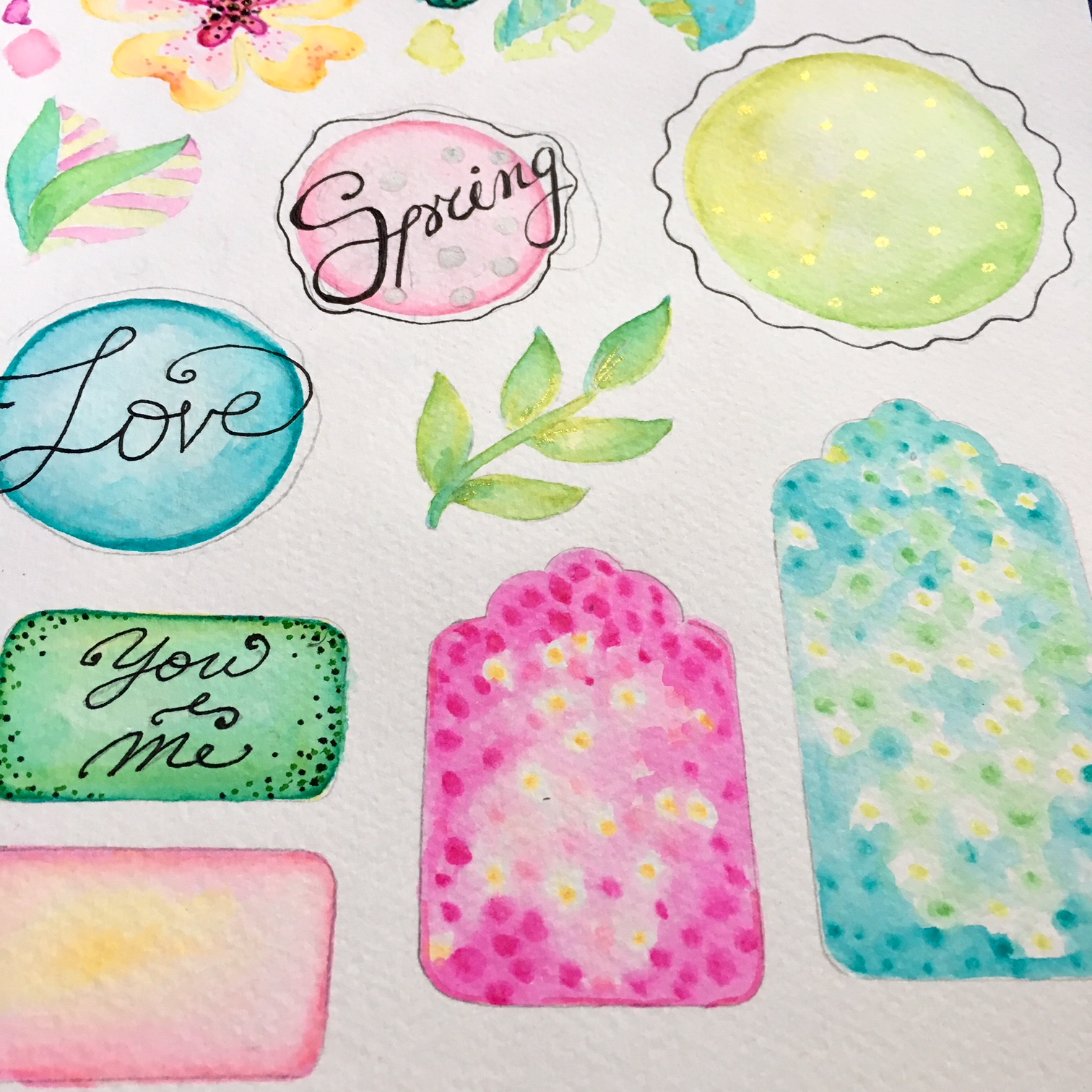 DIY scrapbook embellishments collection
