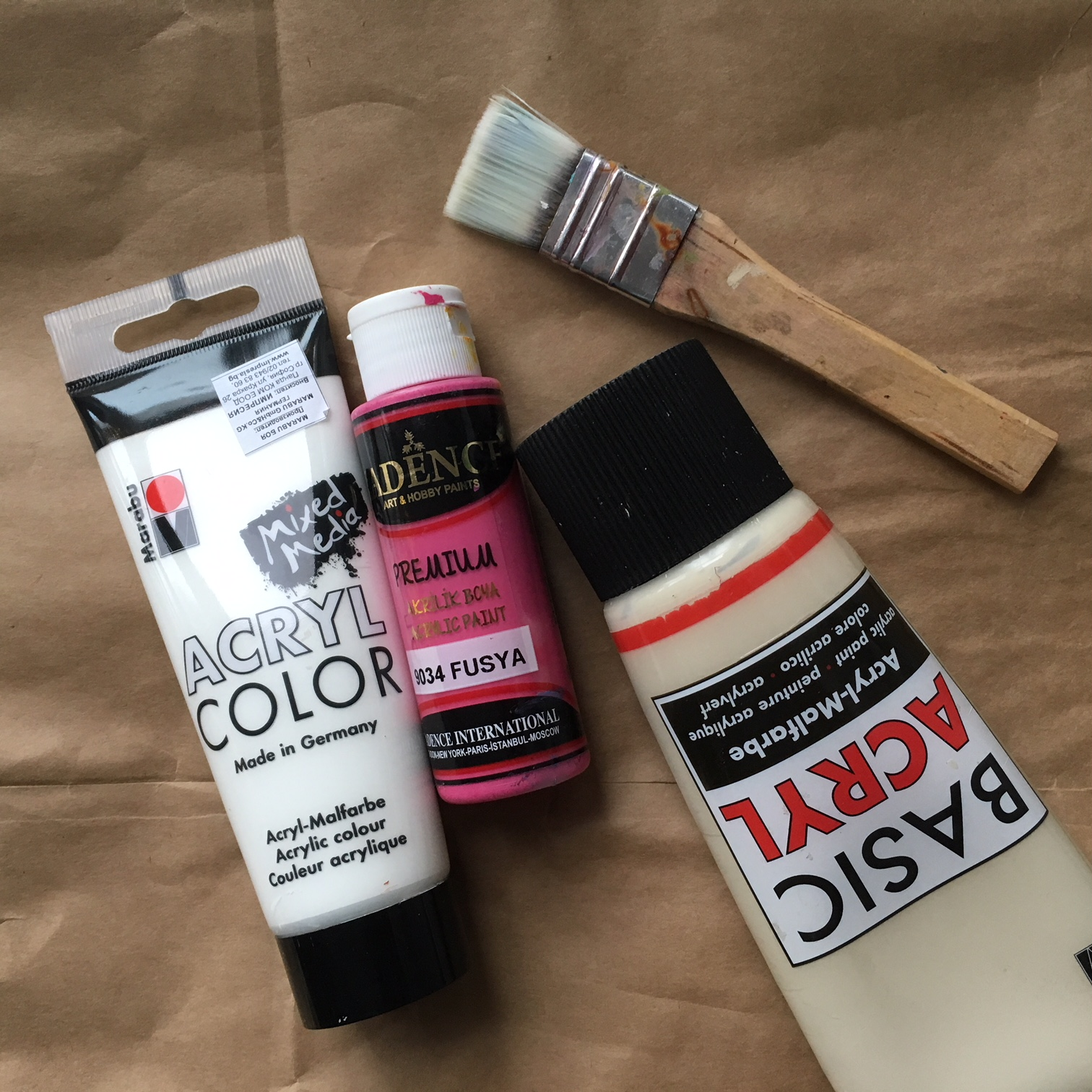 I recommend acrylic paint for your craft projects