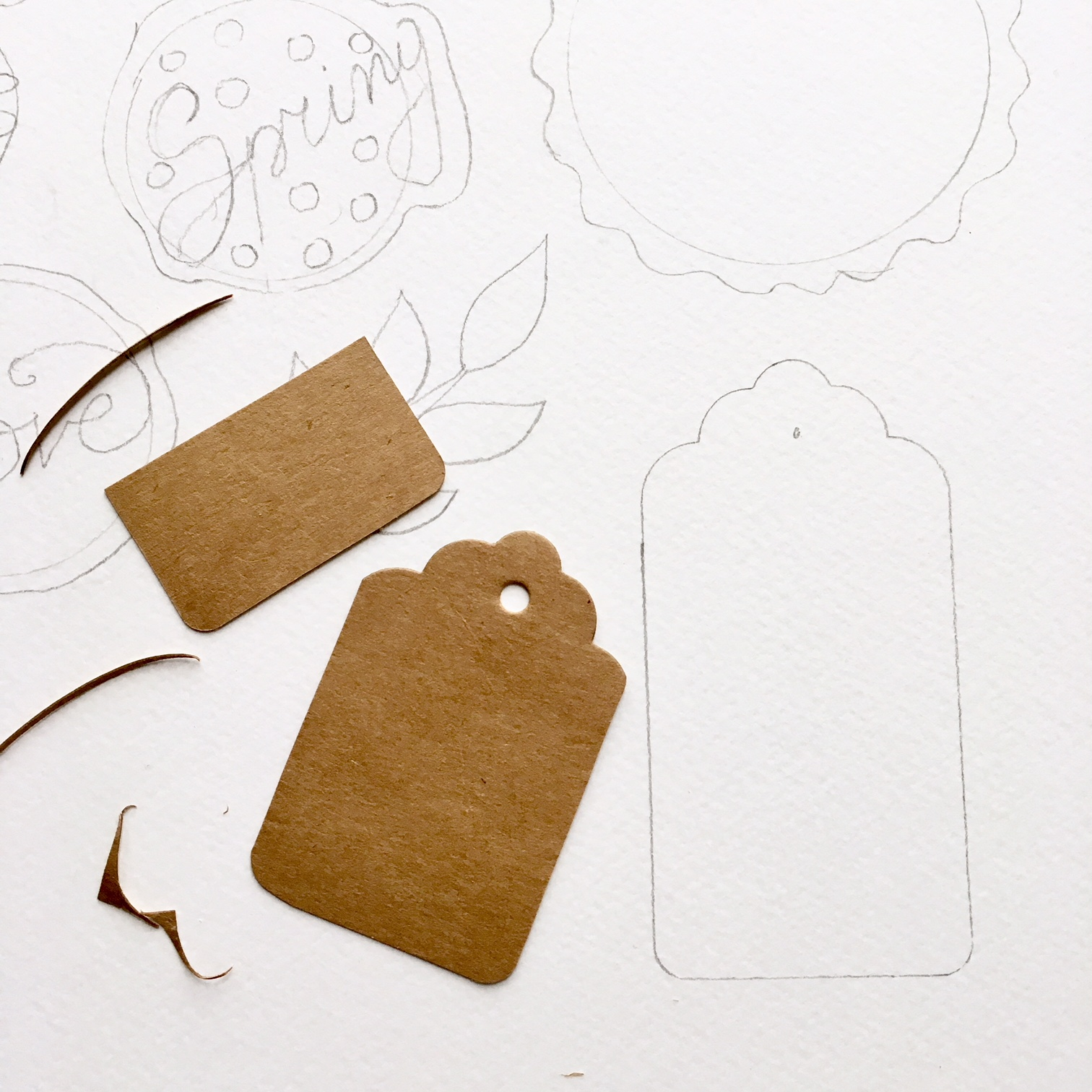 use old clothes labels as templates for your DIY scrapbook embellishments